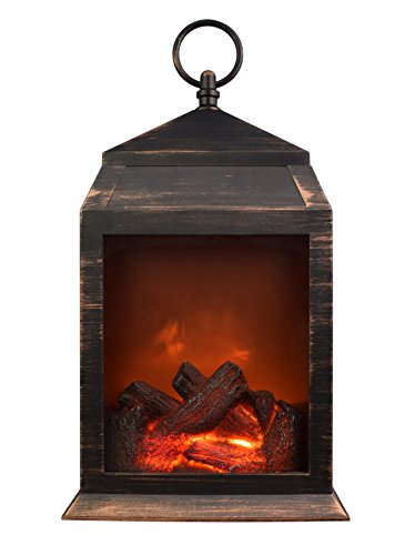 Northpoint Fireplace Lantern 6 Super Bright LED'S and 36 Lumen Output Battery Operated Hanging and/Or Sitting Lantern for Indoor and Outdoor Usage by Northpoint