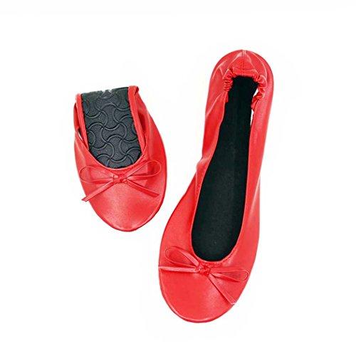 FeetHfp01 Red Happy Shiny donna Ballet xqnHw0wTA1