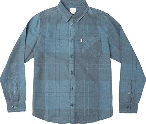 Good Flannel - RVCA Men's Good Stuff Neutral Flannel Federal Blue Medium