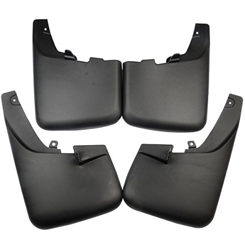 Set of 4 Mud Flaps Splash Guards for Ford F-250 F-350 Super Duty 2011-2016 with Factory Fender Flares (2015 Superduty Weather Tech)