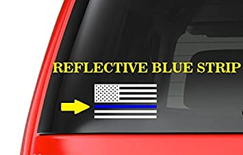 Amazoncom American Flag M Thin Blue Line Cop Police Vinyl - Vinyl window decals amazon