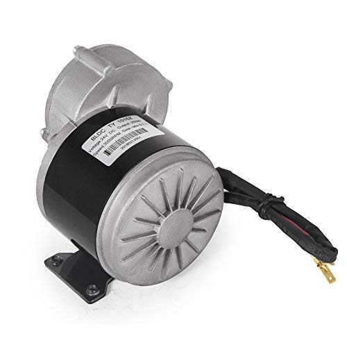 VEVOR 350W Electric Brush DC Motor 3000RPM DC Motor 24V Electric DC Motor for Electric Scooter Mini Bike Quad Go-Kart or Electric Bicycle (24V 350W) (Best Mini Quad Motors)