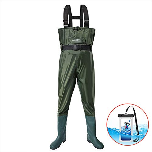 RexSoul Fishing Waders for Men and Women with Boots, Mens/Womens Waterproof Lightweight Chest Waders