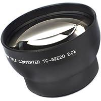 Pixco 52mm 2.0X Tele Conversion Lens Black Color [Camera]