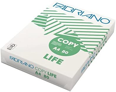 Fabriano Copy Life A4 (210×297 mm) Blanco - Papel (A4 (210x297 mm), Universal, Blanco, 80 g/m², 500 hojas): Amazon.es: Oficina y papelería