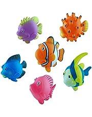 Assorted Squirting Fish - Cute Floating Cartoon Soft - Squirting Marine Animal Models- Baby Bath Play Bathtub Toys