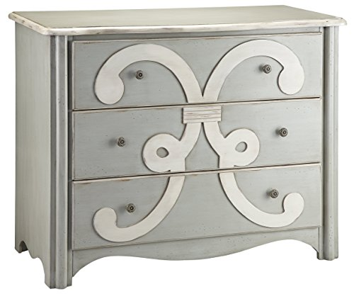 Vanity Hall Bathroom Furniture (Stein World Furniture Chesapeake Chest, Cadet Grey, Cream)