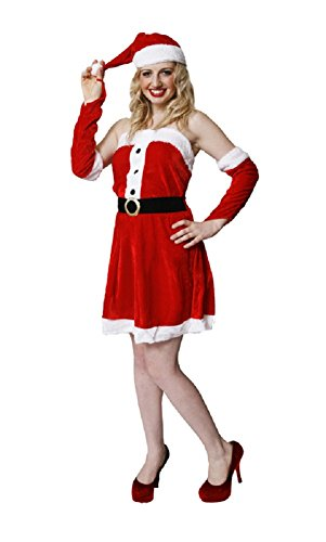 Momo&Ayat Fashions Unisex Christmas accessories Costume Headband Elf Santa All Mix & Match (Adult Santa Lady, Onesize)]()