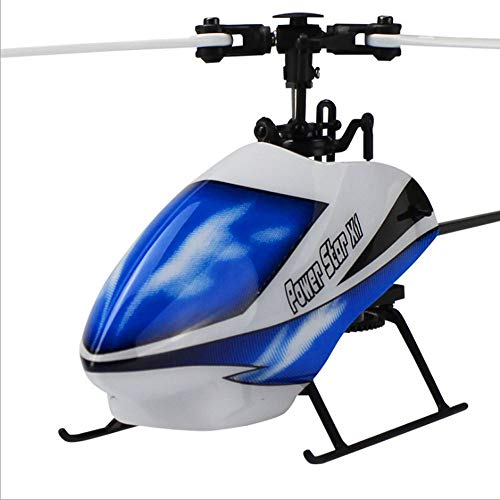 SSBH 6 Channel 2.4G Remote Control Airplanes & Jets with 3 Axis 6-axis Gyroscope Single Paddle Aileronless Brushless Helicopter for Children's Christmas Birthday Present, 245mm 245mm 77mm