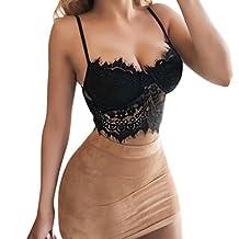 Jushye Sexy Bra,Womens Lace Flowers Lingerie Bustier Cami Crop Underwear
