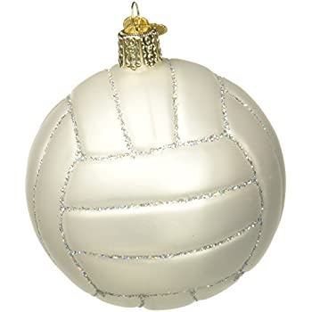 Amazon.com: Old World Christmas Ornaments: Volleyball Glass Blown ...