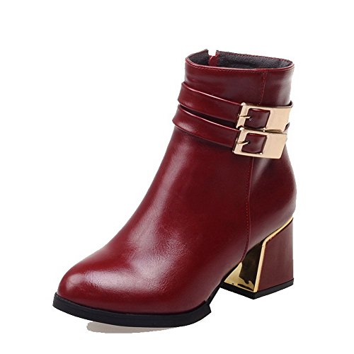Women's Soft Material Pointed Closed Toe Solid Low-top Low-Heels Boots