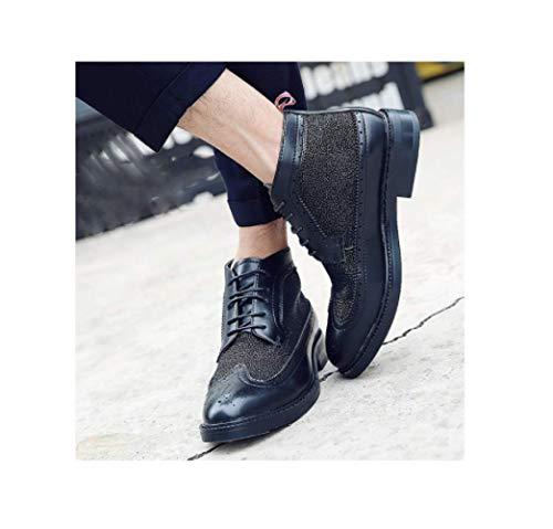 Pour Bottes Sculpté Haute De Bullock Chaussures British Ycgcm Hommes Black Bottines Martin F4apqa