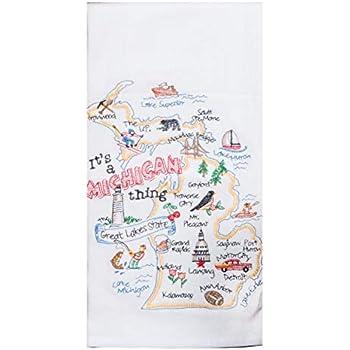 Kay Dee Designs ST Thing Michigan EMB F/S Dish Towel, 17.5 x 28, Various