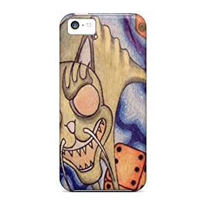 CSG6135Vunm Cases Covers Cat And Dices Iphone 5c Protective Cases