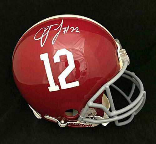 CJ MOSLEY ALABAMA AUTOGRAPHED FULL SIZE FS AUTHENTIC PROLINE HELMET JSA COA