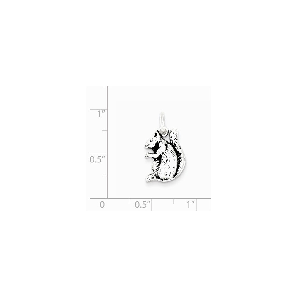 925 Sterling Silver Squirrel Pendant Antique Rodent Charm Fashion