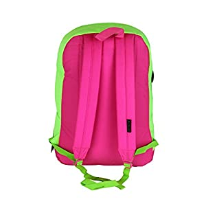 JanSport City Scout Laptop Backpack Fluorescent Green Pink