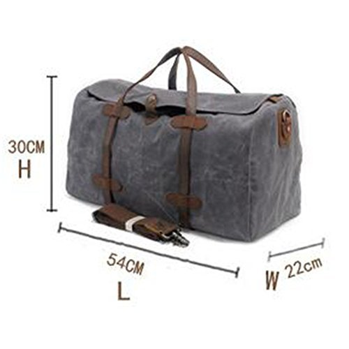 Waterproof Travel Duffles, Fresion Large Portable Hodall Waxed Canvas Handbags 55L Grey