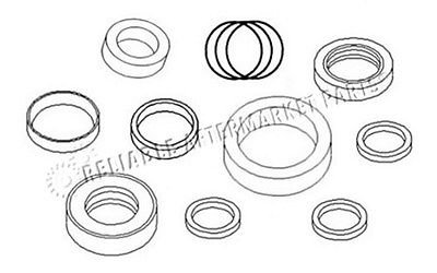 AM118390 Lift Hydraulic Cylinder Seal Kit Made For John Deere Loader 67