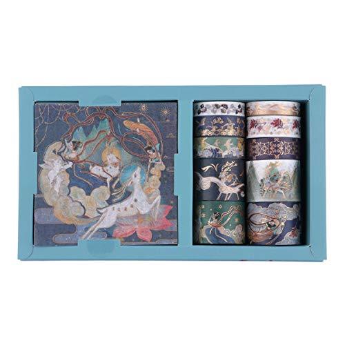 Set de cintas washi y hojas adhesivas diseno japones D