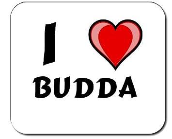 Ich Liebe Leinwand Mit Motiv Buddha Shopzeus Mauspad Amazon De