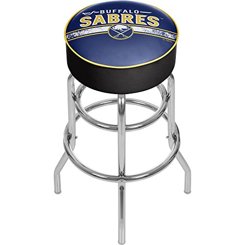 Trademark Gameroom NHL Buffalo Sabres Chrome Bar Stool with Swivel (Buffalo Sabres Bar)