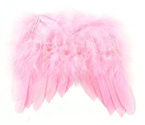 Touch of Nature 10978 Mini Feather Angel Wing, Light Pink 6 X 7-Inch
