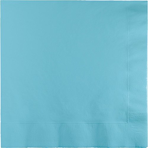 Creative Converting 240-Count Touch of Color Paper Lunch Napkins, Pastel Blue (Royal Paper Converting)