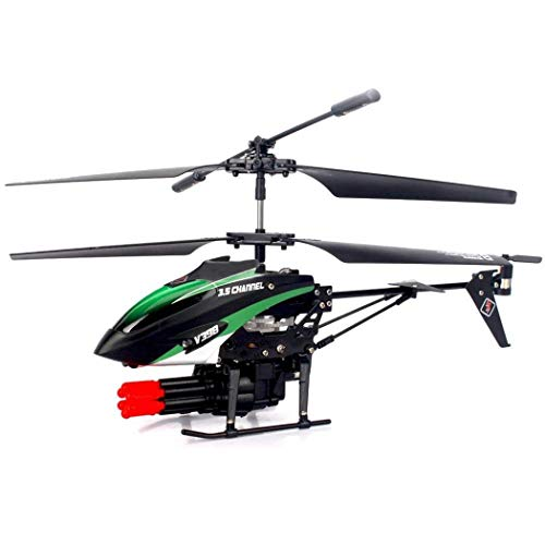 Mini Remote Control/RC Helicopter with 8 Shoot Missiles for Adults Kids Beginners Aged 14+, 3.5 Channels Double Motor Missile Shooting Helicopter - Built-in Rechargeable Lithium ()