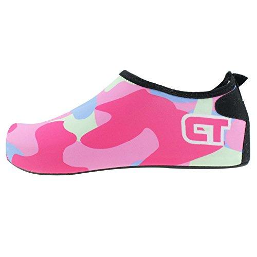SENFI leichte Quick-Dry Wasser Schuhe für Wassersport Strand Pool Camp (Männer, Frauen, Kinder) C.pink