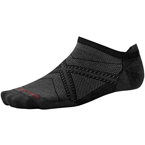 Smartwool Men's PhD Run Ultra Light Micro Socks (Black/Black) Large (Smartwool Ultralight Socks)