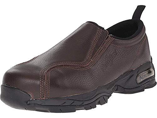 Nautilus 1620 Full Grain Leather ESD  Safety Toe Slip-On,Brown,8.5 W