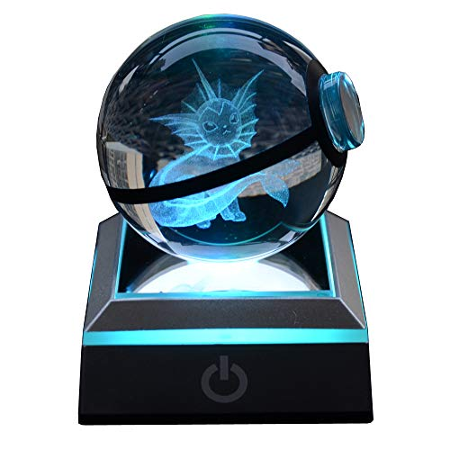 - S-SO 3D Crystal Ball 7 Color Changing Bedroom Night Light, LED Bedside Table lamp with USB Charging Port (VPN)