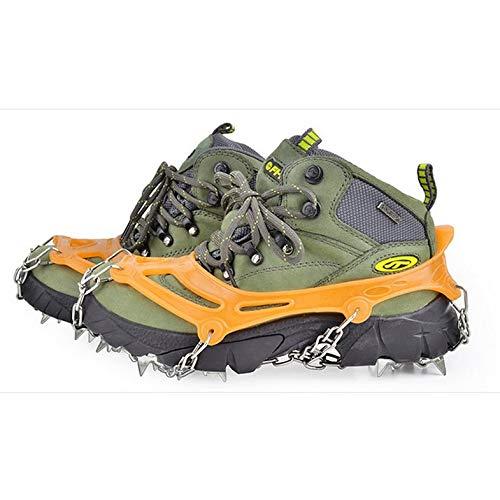 Cubrebrazos de Acero Inoxidable Crampones de 18 Dientes Cubiertas de Zapatos de Nieve en Invierno CamKpell