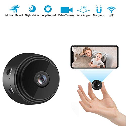 🥇 Spy Camera Hidden Camera for Home Security 1080P HD Mini Camera spy Wireless WiFi Home Nanny cam with Night Vision and Motion Detection Support SD Card