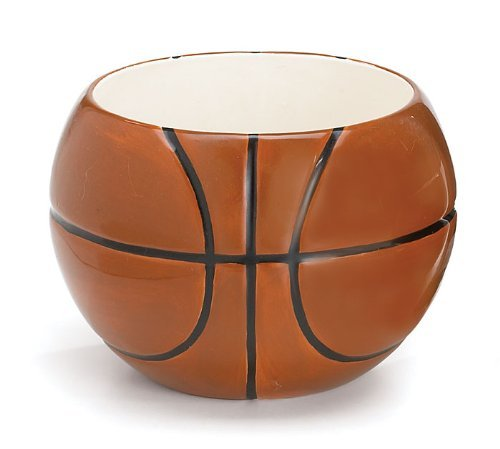 Basketball Candy Table (Basketball Planter/Centerpiece for Room Decor and Sports)