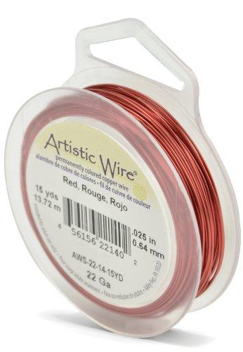 Artistic Wire 22-Gauge Red Wire, 15-Yards