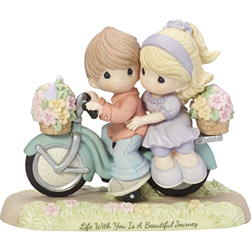 (Precious Moments Life With You Is A Beautiful Journey Couple On Bicycle Bisque Porcelain Figurine 182009)