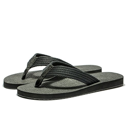 All Size Flip Men Black KENSBUY Lightweight Flop Large Summer Beach Flip Thongs Extra Slipper Flops Comfort Sandals wqaX1Z6
