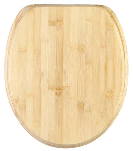 WC Sitz mit Absenkautomatik, hochwertige Oberfläche, einfache Montage, stabile Scharniere, Bambus
