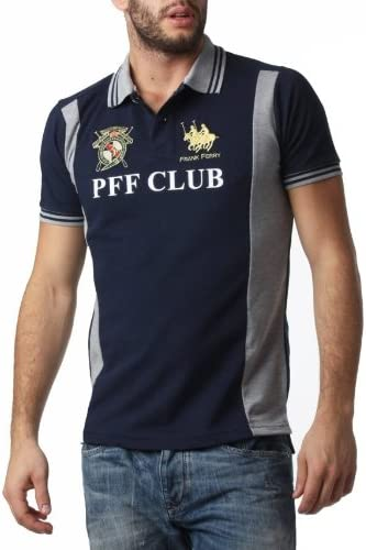 Polo FRANK FERRY Homme ff56 bleu - -: Amazon.es: Ropa y ...