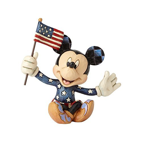 Jim Shore Disney Traditions by Enesco Mini Patriotic - Flag Mickey Mouse