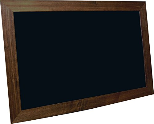 billyBoards 24x36 chalkboard. Vintage java frame finish. School style. With chalk tray. Wood composite writing panel- black. 2.5'' wood frame. by billyBoards