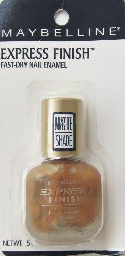 (Maybelline Express Finish Fast-Dry Nail enamel, Matte Gold, 0.5 Fl Oz)