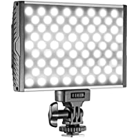 Neewer 144 LED PT-15B PRO Dimmable Camera/Camcorder Video Light Panel with Hot Shoe, Ultra-thin Bi-color Temperature 3200K-5600K LED Light for Canon Nikon Sony Pentax Panasonic Olympus DSLR