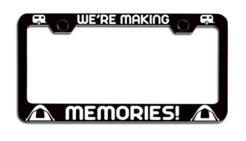 We're Making Memories License Plate Holder made our list of camping gifts couples will love and are the best gifts for couples who camp in tents or RVs including awesome gifts for people who love camping with their friends and families!