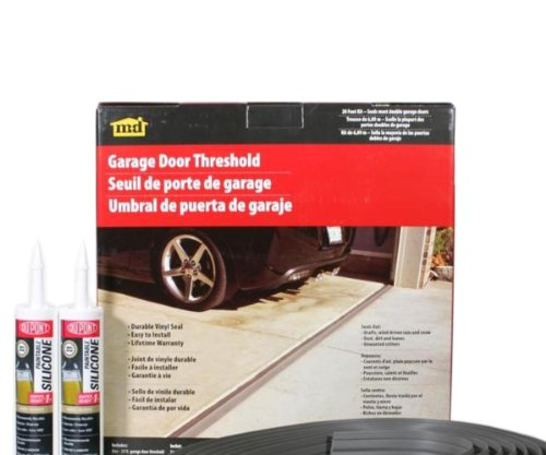M-D Building Products 50101 Weather-Strip Garage Dr 20Ft Bl Black Garage Door Threshold Seal