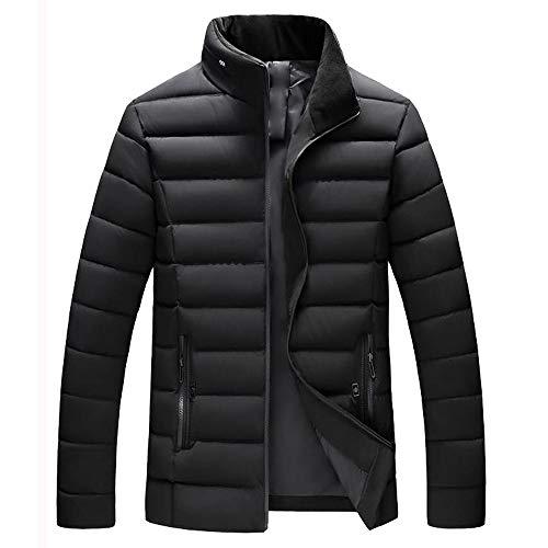 Coton Manteaux Unicolore Noir À Longues Tops Épaississement Capuche Manches Hommes Warm De Day Grande Mode Hiver Outwears Cols lin Taille A Automne En PC4awOq