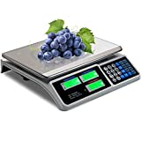 Safstar Electronic Price Computing Scale LCD Digital Commercial Food Meat Weighting Scale 66 Ib Capacity, Upgraded Version